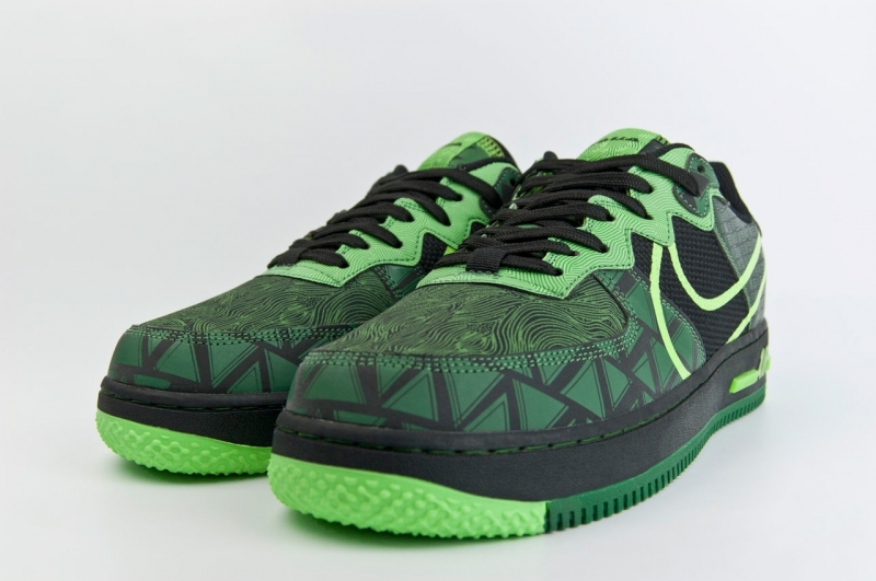 Кроссовки Nike Air Force 1 React DMSX Black  Green